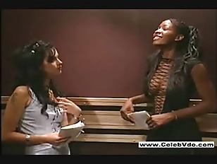 interracial lesbian sex in elevator black dude eating black pussy