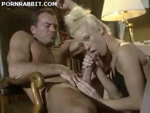 Blonde Slut In Stockings...
