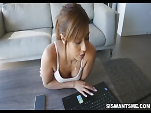 Teen Latina Stepsister Demi Lopez Fucked By Brother While On Laptop