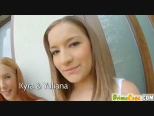 Prime Cups Kyra And Yuliana Big Boobs Threesome