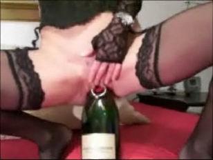 Bottle In Pussy...