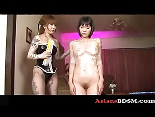 Fine looking Asian chick bdsm lesbian action p1