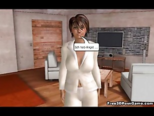 Picture Big Breasted 3D Cartoon Babe Showing Her Goo...