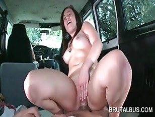 Brunette Nympho Riding Hard...