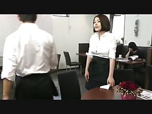 Exotic Japanese girl Riko Honda  Asahi Mizuno  Ren Ayase in Horny couple  secretary JAV scene