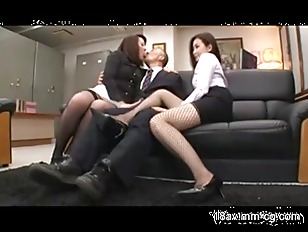 Picture Two Hot Chinese Babes In Wild Threesome