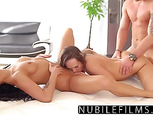 Bridesmaids Sneak Fuck Groom- His Last Threesome!