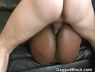 Picture Black Ghetto Slut Very Roughly Riding On Whi...