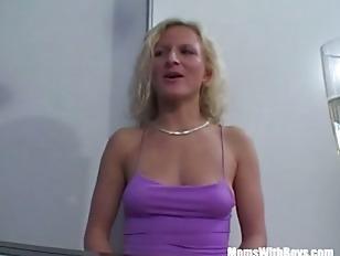 MILF Blonde On A Dinner Fuck Date