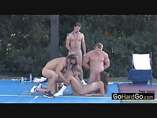 Picture Two Pussy Three Dick Outdoor Romp