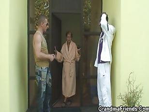 Naughty Granny Takes Two...