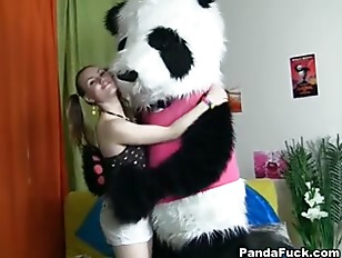 Teens dancing with Panda...