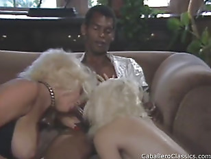 Picture Two Blondes And One Cock