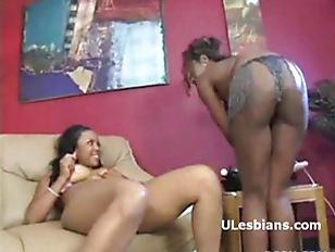 Picture Horny Busty Ebony Lesbians Enjoying A Big Vi...