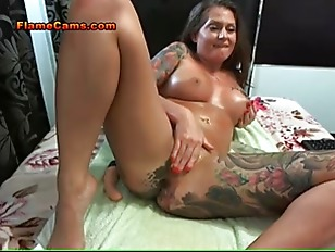 Busty Tattooed Babe Anal...