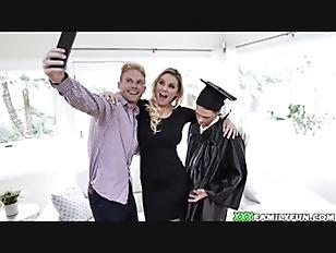 Blonde Busty Mom Fucks Her Graduated Stepson