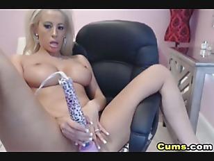 Busty Blonde Webcam Babe...