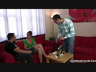 Picture Drunk Threesome Party With Old Chick