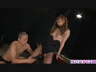 Sena Aragaki has fishnets cut to get sex toys in ass and in twat