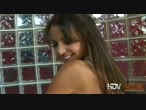 Big tits Vanessa Lane jerks off a hard cock