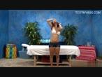 Glamour brunette babe fuck by massager